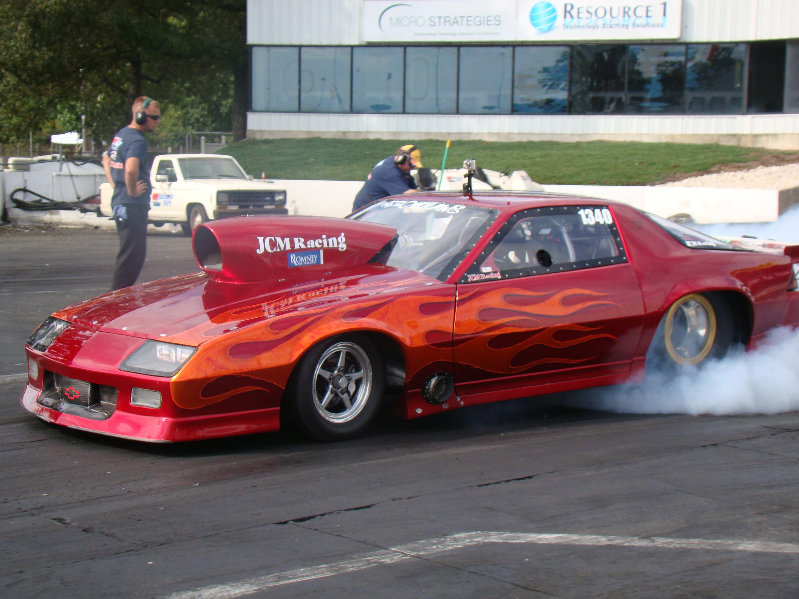 Drag race car paint schemes - Driver John Cerbone In Drag Racing